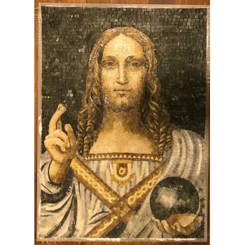 JESUS - SALVADOR MUNDI - MARBLE MOSAIC PORTRAIT