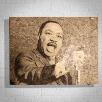 MARTIN LUTHER KING - I HAVE A DREAM - MARBLE MOSAIC PORTRAIT