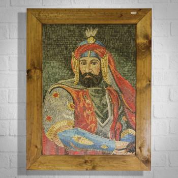 SOULTAN IV. MOURAD OTTOMAN EMPIRE - MARBLE MOSAIC PORTRAIT
