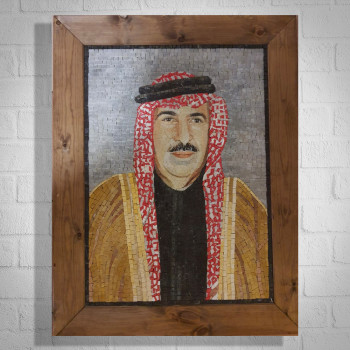 JORDANIAN MAN - CUSTOM MADE MARBLE MOSAIC