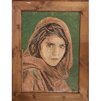 AFGHAN GIRL SHERBET WITH MARBLE MOSAIC