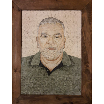 OLDERMAN MARBLE MOSAIC PORTRAIT